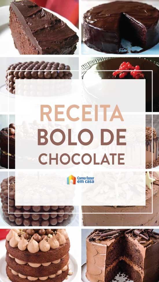 Receita de Bolo de Chocolate - Como fazer passo a passo