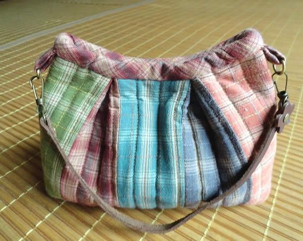Ideia de bolsa de patchwork