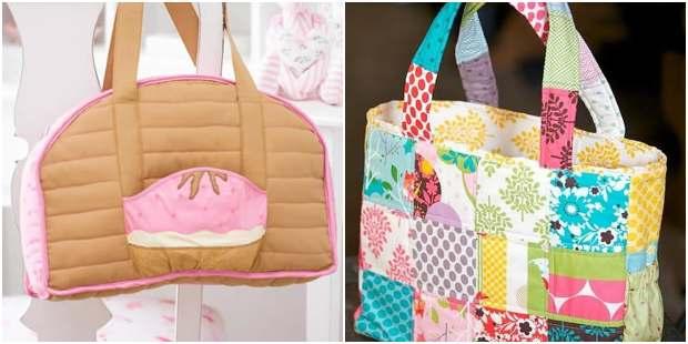 Como fazer bolsas de patchwork