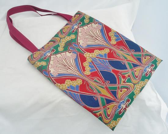 Bolsa de tecido para livro