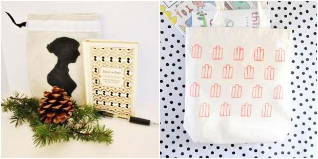 Bolsas de tecido para livros