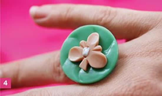Como fazer anel com botão