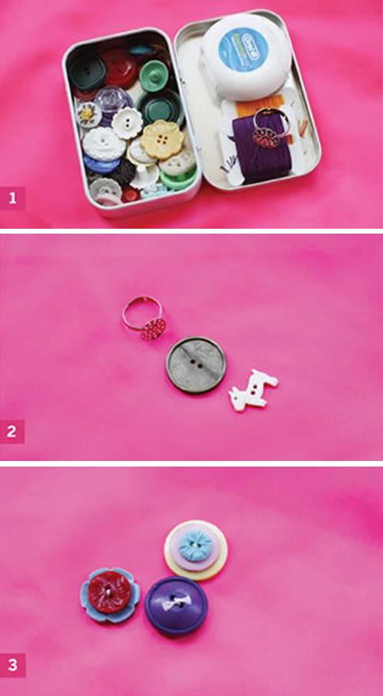 Como fazer anel com botão passo a passo