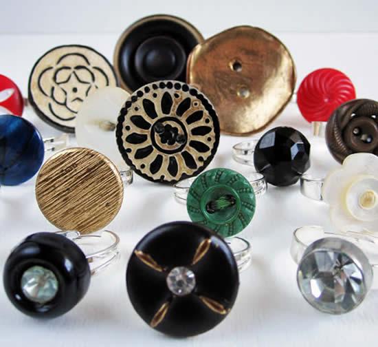 Lindos anéis com botões