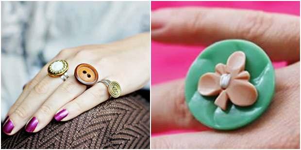 Como fazer anéis com botões