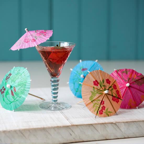 Guarda-chuva para drinks