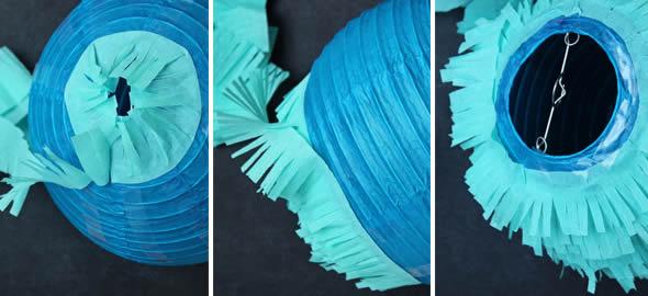 Decoração para festa com papel seda