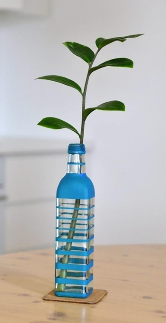 Reciclando garrafas de vidro para decoração