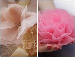 Flor de tule simples de fazer
