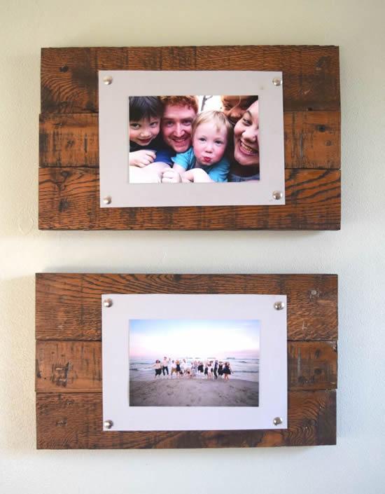 Porta-retratos para decoração da casa