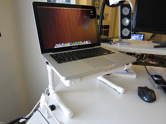 Como fazer suporte para notebook com canos PVC