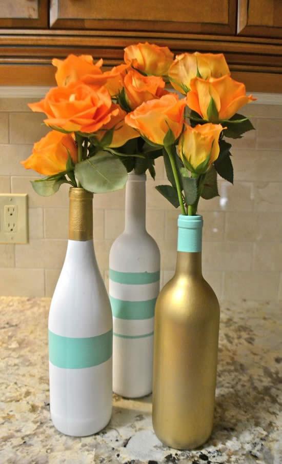Decoração com a reciclagem de garrafas
