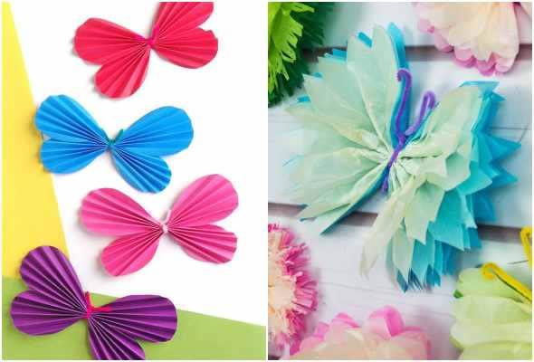 Borboleta de papel para decoração