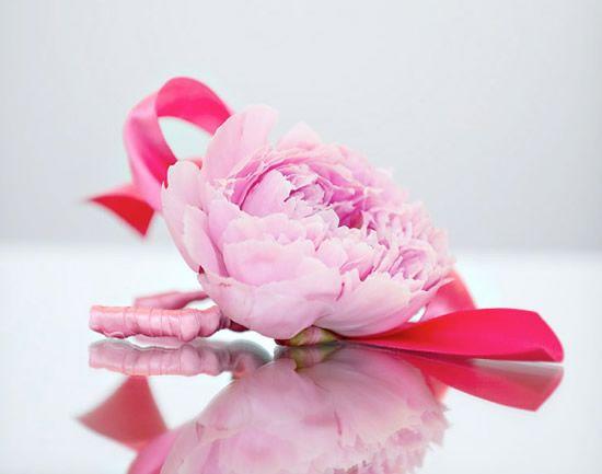 Bracelete de flores com fio de cobre e fita floral