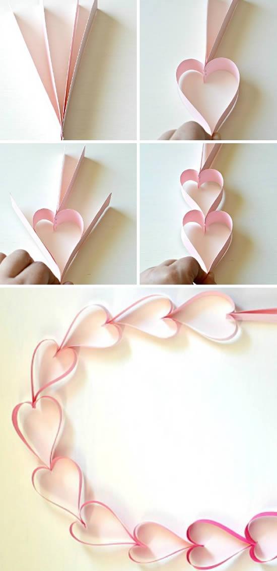 Linda decoração com correntinha de coração
