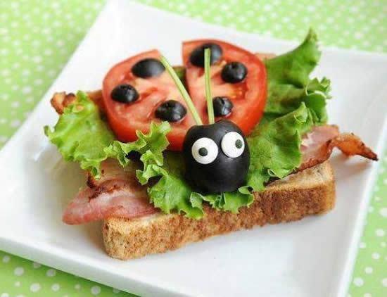 Pratos divertidos de café da manhã - Food Art