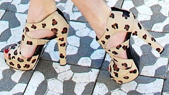 Sapato com textura de onça passo a passo