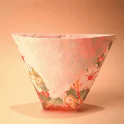 Como fazer um copo de origami passo a passo