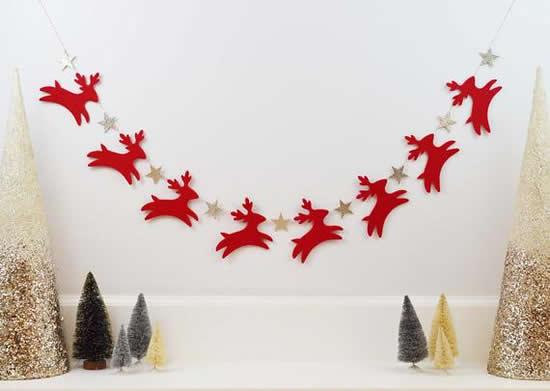 Guirlanda para o Natal com feltro