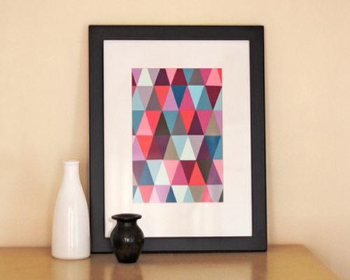 Como fazer quadro colorido para casa