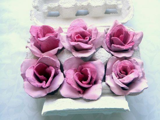 Como fazer uma flor de papelão reciclada