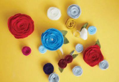 Como fazer flor de feltro passo a passo