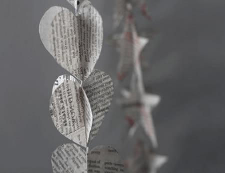 Reciclagem de jornal para decoração