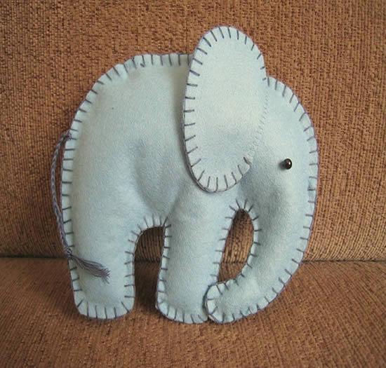 Como fazer um elefante de feltro
