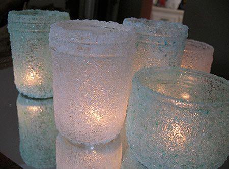 Potinhos de vidro decorados passo a passo