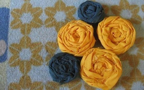 Flores de tecido passo a passo
