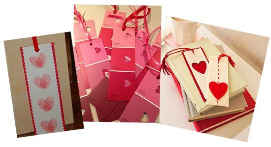 Lindos marcadores de livro para o Dia dos Namorados