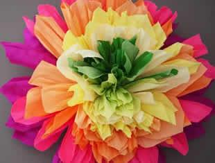 Flor de papel seda grande