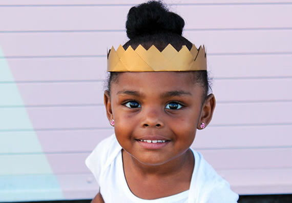 Princesinha linda - Coroa artesanal passo a passo
