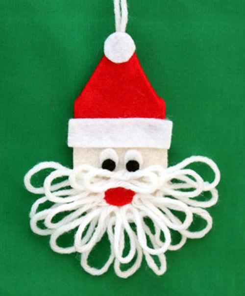 Papai Noel de feltro passo a passo