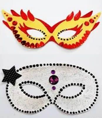 Máscara de Caranval para fazer em casa passo a passo com moldes