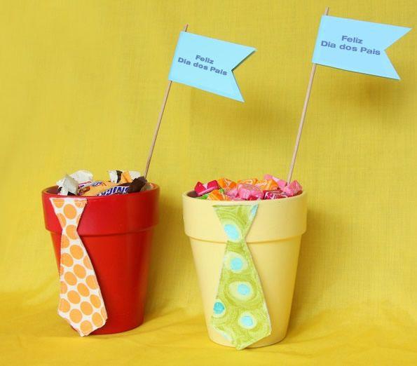 Linda porta doces para decoração de Dia dos Pais passo a passo