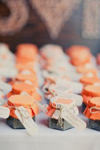 Potinhos de geleia para casamento - Lembrancinhas