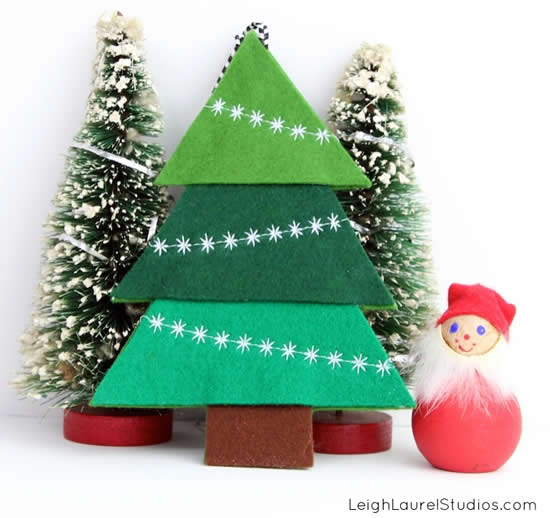 Arvorezinha de Feltro para o Natal