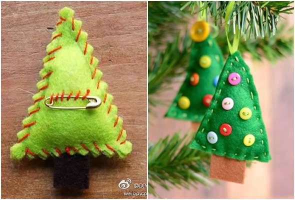 Árvore de Natal de feltro passo a passo
