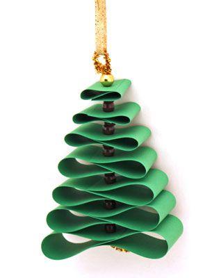 Mini árvore de Natal com papel