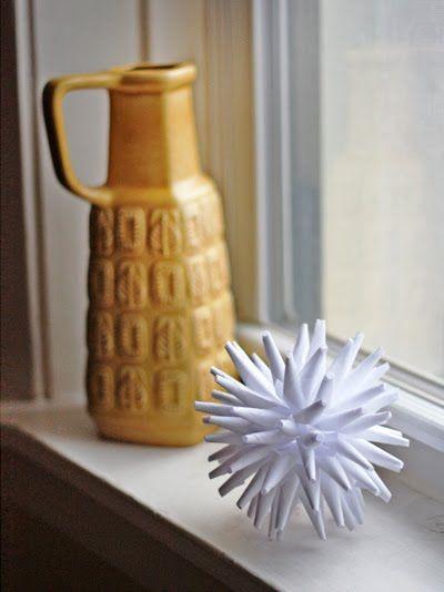 Objeto decorativo com papel para a sala - Passo a passo