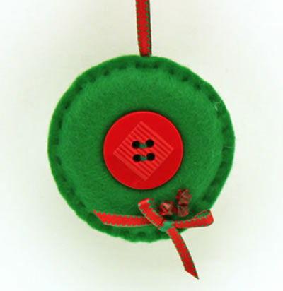 Decoração em feltro para o Natal
