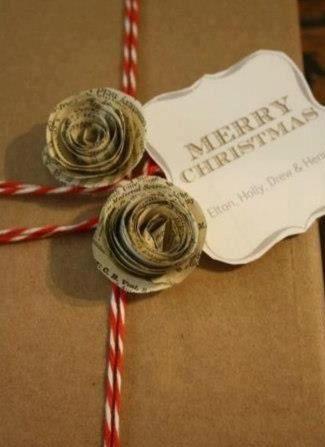 Decoração de presente de Natal