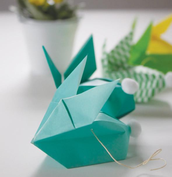 Coelhinhos de papel para Guirlanda de Páscoa