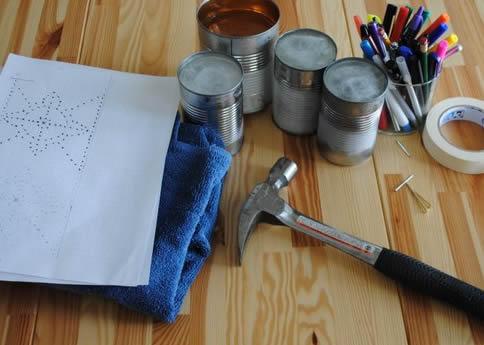Reaproveitando latas de alumínio para decoração