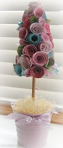 Decoraç u00e3o com Flores de Papel para Chá de Fraldas -> Decoração Para Chá De Fraldas Passo A Passo