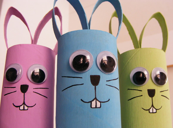 Manufatura X Artesanato ~ Artesanato de reciclagem com rolinhos de papel u00e3o para a Páscoa