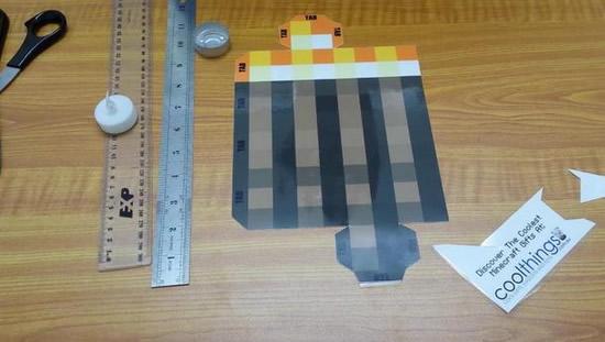 Tocha de Minecraft - Artesanato Passo a Passo
