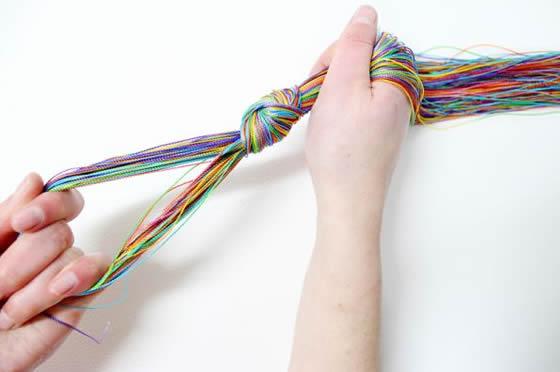Colar Colorido Com Cordão Encerado Ou Fio De Lã Passo A Passo