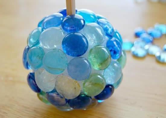 Decoração com bola de isopor para a casa